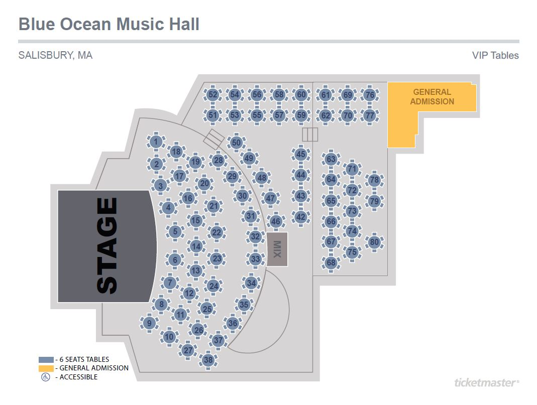 Blue Ocean Hall Seating Chart